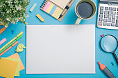 paper mockup template and school stationery. cover design advertising background.