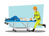 rescue team ,Vector illustration cartoon character.