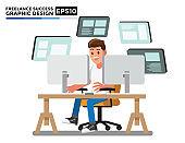 Graphic design vector, Cartoon character