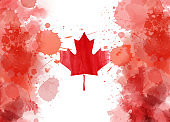 Abstract conceptual Canadian flag