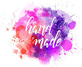 Hand made watercolor splash background