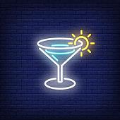 Summer beverage neon sign