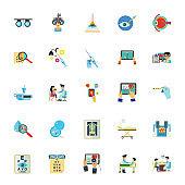 Medicine innovation and service icon set