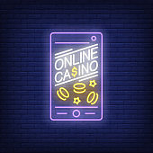 Online casino neon sign