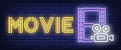 Movie neon sign
