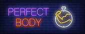 Perfect body neon sign