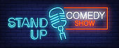 Standup Comedy show neon sign