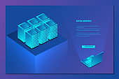 Isometric of data network management concept .