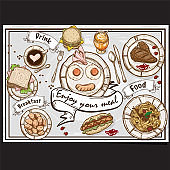 menu fast food design template graphic