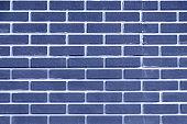 Brick wall blue color. Bright geometric texture.