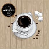 coffee cup Americano graphic