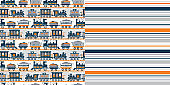 Pattern_set_Retro_Train_Allover_Print_Coordinated_Stripe_Patterns_Orange_Navy_Blue_White_Background