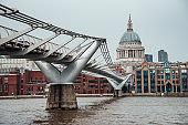 Saint Paul's Cahtedral and Millennium Bridge