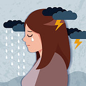 woman with depressed problem