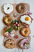 Bagel Sandwiches on Paper