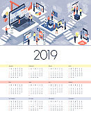 Technology, VR and automation calendar 2019