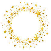 Wreath of Golden Stars