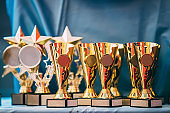 Different Champion Golden Trophy, Trophies. Winners Cup