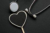 Heart Shape and Stethoscope
