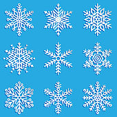 Vector snowflakes set. Elegant snowflakes for Christmas and New Year design.