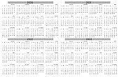 calendar of 2020 to 2023year, simplicity, already to use calendar