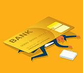Credit Card Debt - Businessman