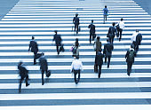 City Commuters at Crosswalk