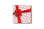 White, gift box with bow isolated on white background. Romance, Valentine's Day, love.