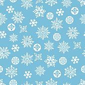 Snowflake seamless pattern .