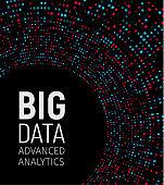 Big data visual energy fractals. Technology network infographic. Information analytics design. Vector illustration