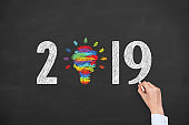 New Year 2019 Creative Concepts