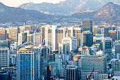 Seoul cityscape and urban skyline
