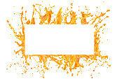 Orange juice splash frame