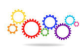 Gears for cooperation or teamwork Background