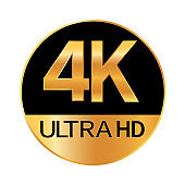 4K resolution icon for web and mobile