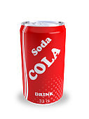 can soda cola drink 3D