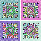 Zigzag striped textures pattern collection