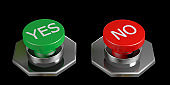 yes no green red buttons