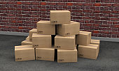 boxes carton packages transport