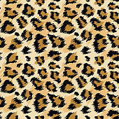 Fashionable Leopard Seamless Pattern. Stylized Spotted Leopard Skin Background for Fashion, Print, Wallpaper, Fabric. Vector illustration
