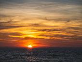 Sun setting in the Mediterranean