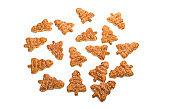 Christmas tree cookies isolated