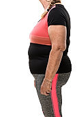 Unknown overweight woman body