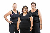 Overweight middle aged women group pic
