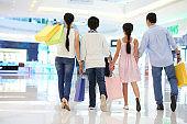 Family enjoying shopping