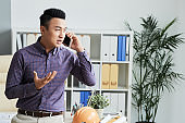 Consulting client on the phone