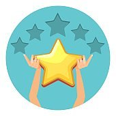 Evaluation in shiny gold stars for offered services