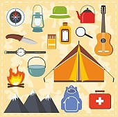 Camping and outdoor activity.