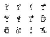 Strong drinks icons