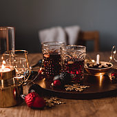 Christmas decorations and glögg mulled wine